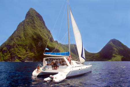 Sail to the Pitons